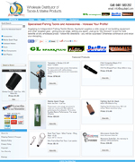 Image of online shop design selling wholesale and retail fishing equipment