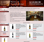 online shop site design for wines at templestowe