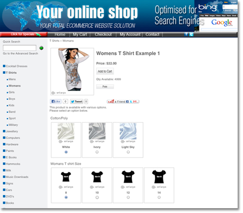 enhanced ecommerce product selection